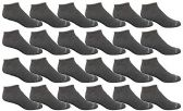 24 of Yacht & Smith Kids Poly Blend Light Weight No Show Ankle Socks Solid Dark Heather Size 6-8