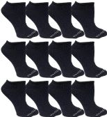 12 of Yacht & Smith Kids Poly Blend Light Weight No Show Ankle Socks Solid Navy Size 6-8