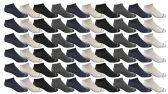 60 of Yacht & Smith Kids Poly Blend Light Weight No Show Ankle Socks Solid Assorted 4 Colors Size 6-8