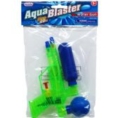 "48 of 6.75"" WATER GUN IN POLY BAG W/ HEADER, 3 ASSRT CLRS"