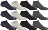 12 of Yacht & Smith Womens Poly Blend Light Weight No Show Ankle Socks Solid Assorted 4 Colors