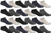 24 of Yacht & Smith Womens Poly Blend Light Weight No Show Ankle Socks Solid Assorted 4 Colors
