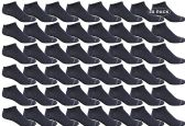 48 of Yacht & Smith Women's Poly Blend Light Weight No Show Loafer Ankle Socks Solid Navy