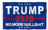 48 of 3'x5' Flag Trump 2020 NO MORE BULLSH*T