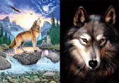 100 of 3D Picture Howling Wolf Brown Brown Wolf