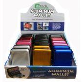 24 of Aluminum Wallet Solid Colors