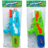 "12 of 18.5"" WATER GUN W/ PUMP ACTN IN POLY BAG W/HEADER, 2 ASST"