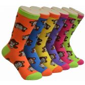 360 of Ladies Monkey Crew Socks Size 9-11