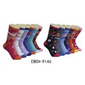 360 of Ladies Zodiac Crew Socks Size 9-11