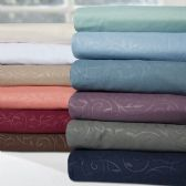 12 of Embossed Vine Sheet Set In Queen Size In Torquoise