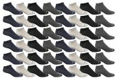 48 of Yacht & Smith Men's Poly Blend Light Weight No Show Loafer Ankle Socks Assorted 4 colors