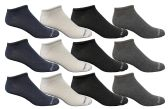 12 of Yacht & Smith Men's Poly Blend Light Weight No Show Loafer Ankle Socks Assorted 4 colors
