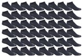 48 of Yacht & Smith Men's Poly Blend Light Weight No Show Loafer Ankle Socks Solid Navy
