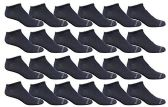 24 of Yacht & Smith Men's Poly Blend Light Weight No Show Loafer Ankle Socks Solid Navy