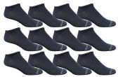 12 of Yacht & Smith Men's Poly Blend Light Weight No Show Loafer Ankle Socks Solid Navy