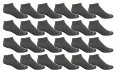 24 of Yacht & Smith Men's Poly Blend Light Weight No Show Loafer Ankle Socks Solid Gray