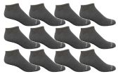 12 of Yacht & Smith Men's Poly Blend Light Weight No Show Loafer Ankle Socks Solid Gray