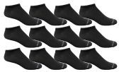 12 of Yacht & Smith Men's Poly Blend Light Weight No Show Loafer Ankle Socks Solid Black