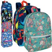 24 of 17 Inch Backpacks Mix Girls And Boys Prints