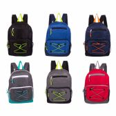 """24 of 17"""" Backpacks with Bungee Design"""