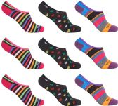 12 of Women's Mesh No Show/Silicone No Slip Loafer Sock Liner (Asst Prints)