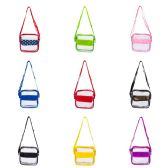 """24 of 8"""" Pvc Clear Bag With Velcro Pouch In Assorted Colors"""
