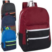 24 of Trailmaker 17 Inch Color Block Backpack 4 Colors