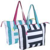 24 of Cabana Stripe Beach Tote Bag 15 Inch