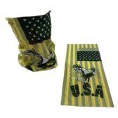 30 of Multi Functional Headgear Gaiter Buff USA Eagle Yellow