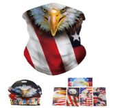 24 of Multi Functional Headgear Gaiter Buff Flag With Eagle