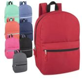 24 of Wholesale 17 Inch Solid Backpack