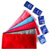 96 of Zipper Pencil Pouch Assorted Colors