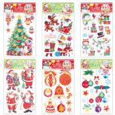96 of X'mas Decoration Sticker With Glitter