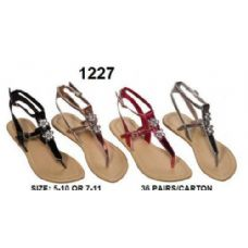 36 of Ladies Sandals with Rhine Stone Design
