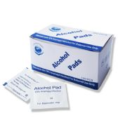 100 of 70% Isopropyl Alcohol Cleansing Pads , First Aid Cleaning Pads