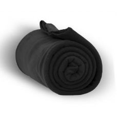 24 of Fleece Blankets/Throw -BLACK