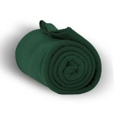 24 of Fleece Blankets/Throw -Forest Green