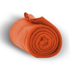 24 of Fleece Blankets/Throw - Orange