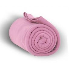 24 of Fleece Blankets/Throw - Pink