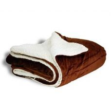 12 of Micro Mink Sherpa Blankets - Chocolate