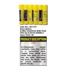 144 of Glue Stick - .28 oz  - Bulk packed