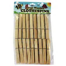 72 of 18PK WOODEN CLOTHESPIN