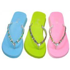24 of Lady Rhinestones Thong Sandal Size: 5-10