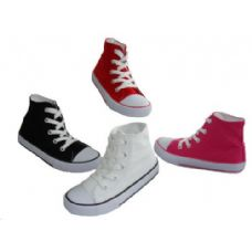 24 of Children's Lace Up High Top Canvas Shoes