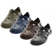30 of Men's Walking Light Weight Velcro Sandals ( *Asst. Black Navy Brown And Khaki )