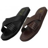 60 of Men's Pu. Upper X-Band Slippers