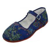 36 of Girls' Brocade Mary Janes ( Navy Color Only)