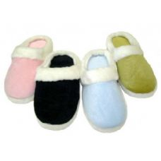 48 of Girl Solid Color Velour with Fur Cuff Colors: Black, Lt. Blue, Lt. Pink and Green