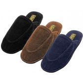 48 of Men's Cotton Corduroy Upper Close toe House Slippers