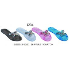 36 of Ladies Jelly Sandal With Stones